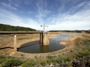 A view of the water catchment of the Cantareira water supply system at Jaguari dam in Joanopollis